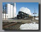 Photo: UP Challenger 3985 moves through Lodgepole, NE on a cold winter day