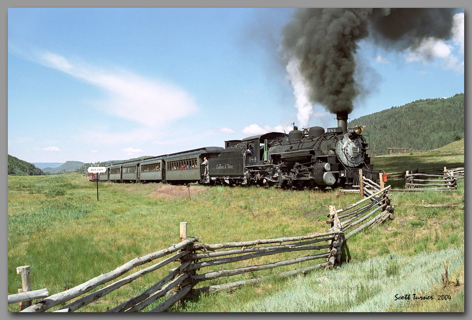 Photo: Cumbres & Toltec #484 at Dalton, NM