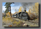 Photo: Cumbres & Toltec 487 in the fall