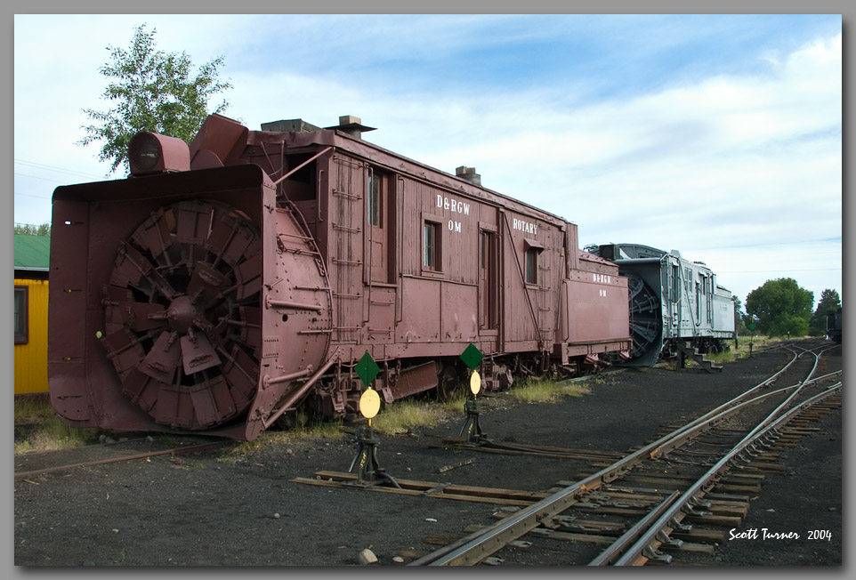 Photo: Cumbres & Toltec Rotary Snowplows OM and OY