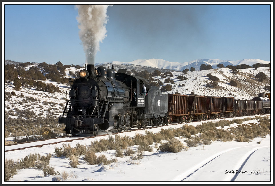 Photo: Nevada Northern RY #93 near mine at Ruth, NV