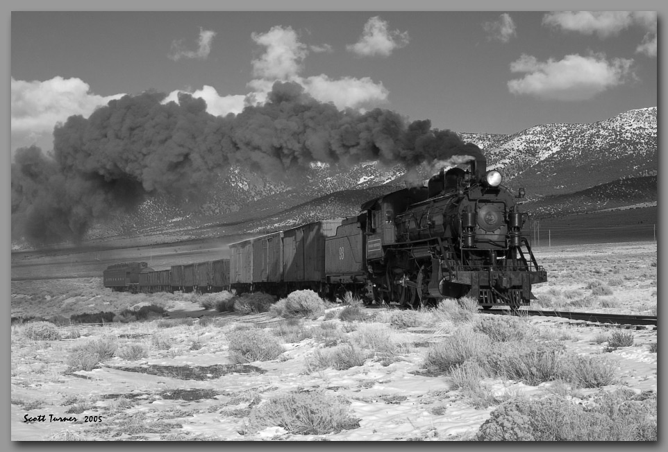 Photo: Nevada Northern #93 in the Steptoe Valley, NV