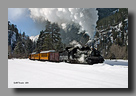 Photo: Durango & Silverton RR K-28 473 at Tall Timbers in winter